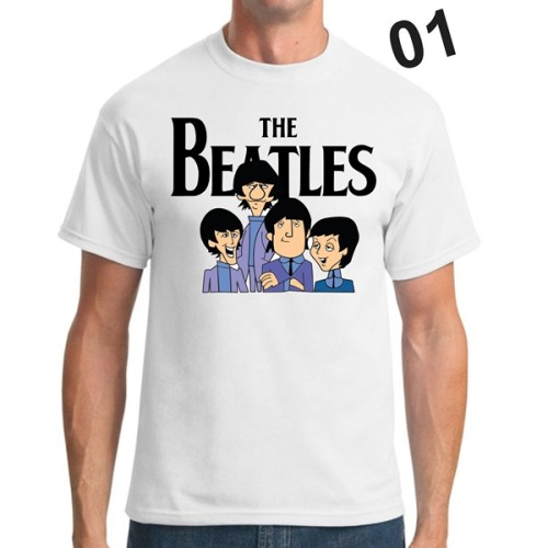 Camiseta Personalizada - The Beatles Cartoon